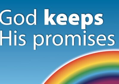 God Keeps His Promises Rainbow Poster